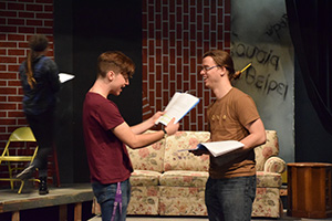 Senior production compares students from different times
