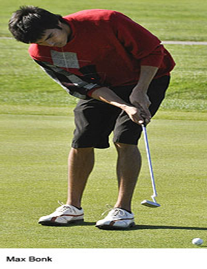 Bonk ready to leave his mark on men's golf team in senior season