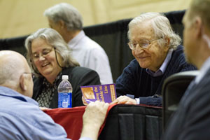 Chomsky event fills Stoller Center