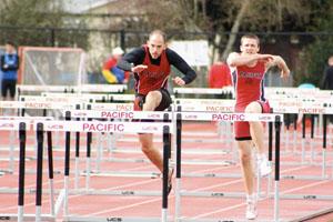 Hunker high hurdles new season records