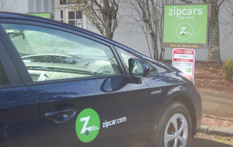 Zipcars available on Pacific campus