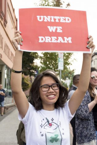 Students and community members rally to defend DACA