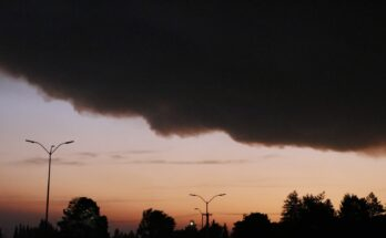 Smoke clouds coming from Linn County covering the Salem sky at 6 AM on September 8th.