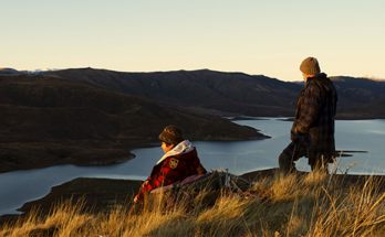 Scene from Hunt for the Wilderpeople- Captured by Michael Sragow of filmcomment.com