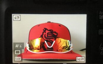Canon T6 Rebel capturing the details of the Boxer Baseball Hat