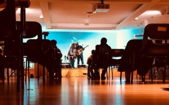 Photo: ACE Board's last hybrid Open Mic Night in the MPR on Nov. 6th, 2020. This year's first hybrid Open Mic will be held on March 5th in the MPR and on Zoom (Rylee Skidmore)