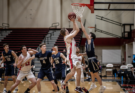 Colin Rardon going up for a basket against George Fox